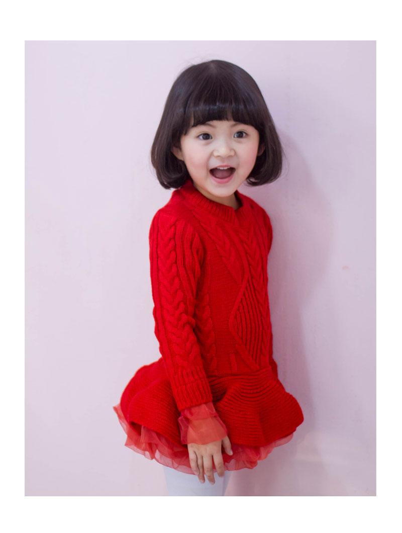 여아 니트 원피스 유아 - 네모, 39,680원, 상의/아우터, 원피스
